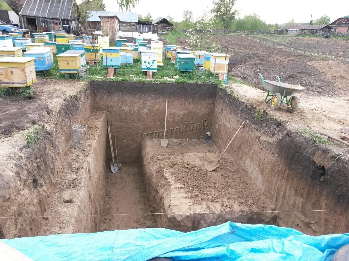 Строительство подземного омшаника своими руками