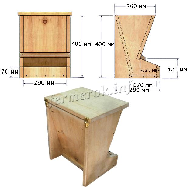 Схема бункерной кормушки