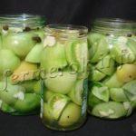 Рецепты консервации зеленных помидоров