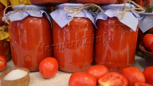 Простой рецепт томатного сока на зиму