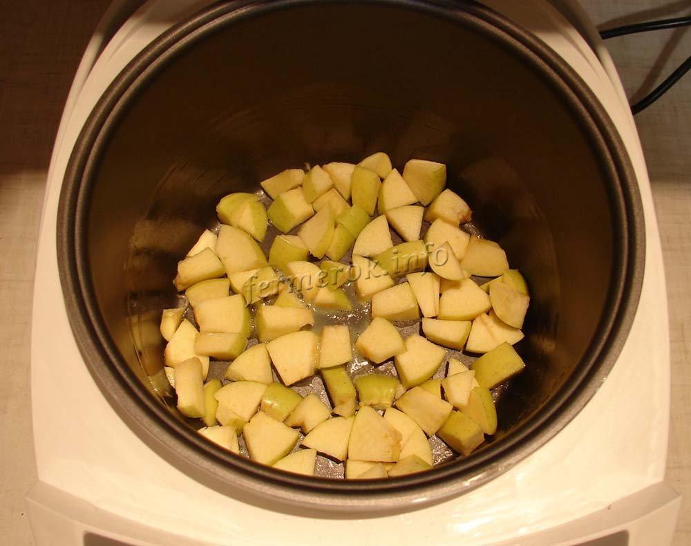 Рецепт повидла из яблок в мультиварке