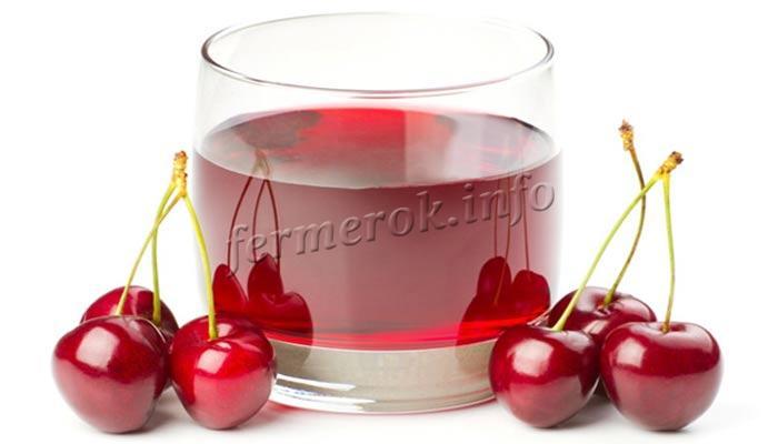 Сок из черешни