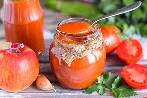Фото кетчупа из помидоров и яблок
