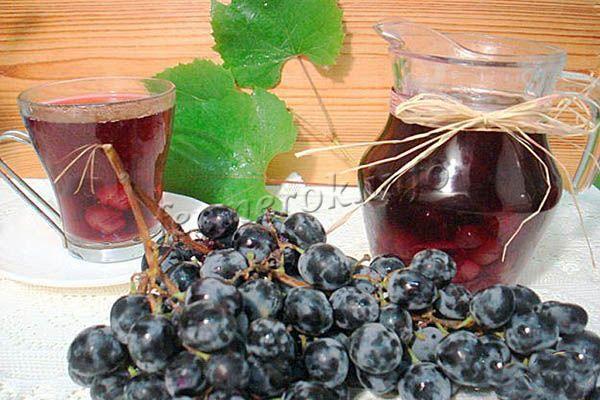 Фото компота из винограда Изабелла