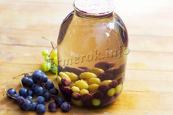 Фото простого виноградного компота