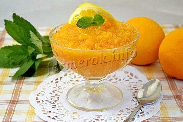Фото варенья из тыквы с апельсином