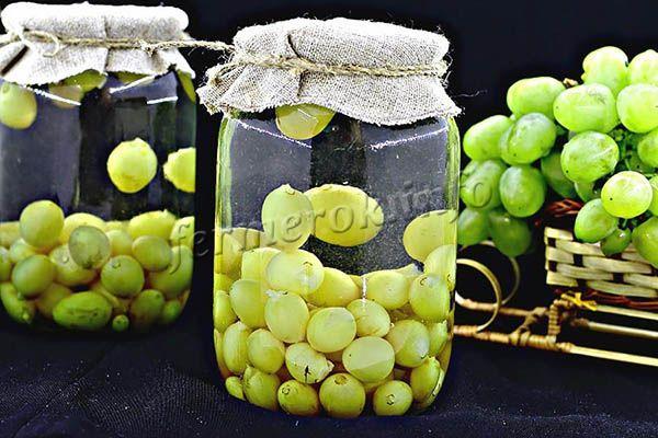 Фото виноградного компота без стерилизации