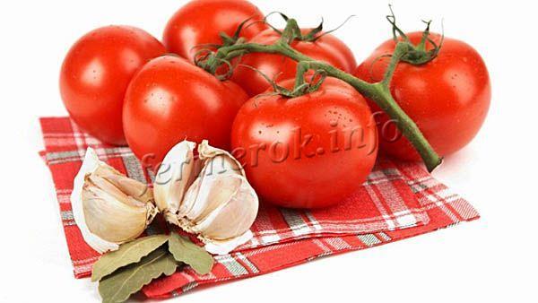 Фото классических помидоров с чесноком