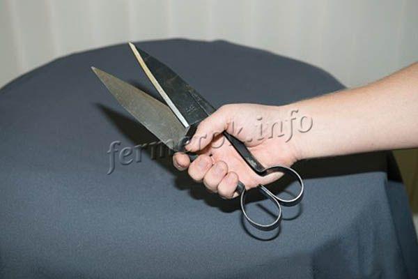 Ножницы должны хорошо ложиться в руку
