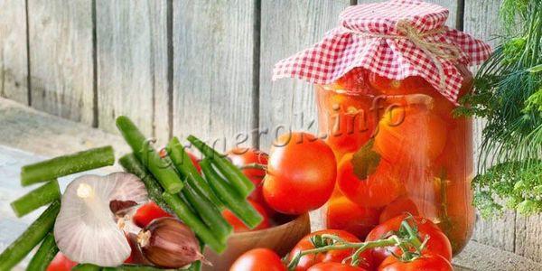 Фото рецепта томатов с чесночными стрелками