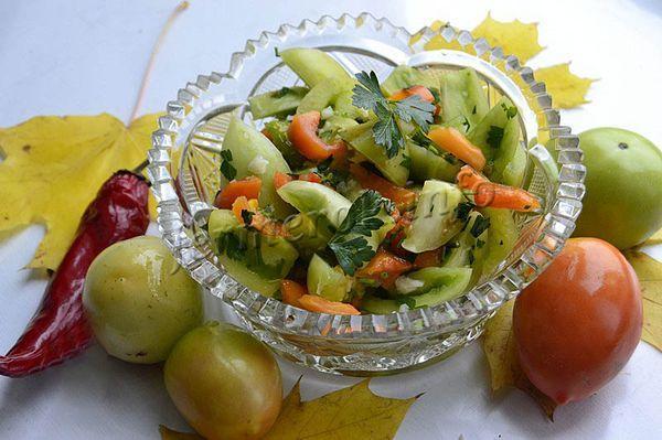 Фото зеленых помидоров быстрого приготовления