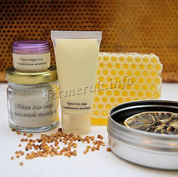 В медицине, косметологии, пыльца пчел часто используется
