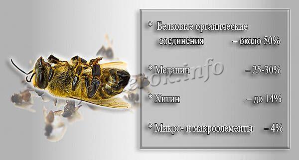Химический состав пчелиного подмора