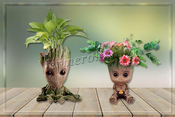 Детские настольные пластиковые цветочные горшки