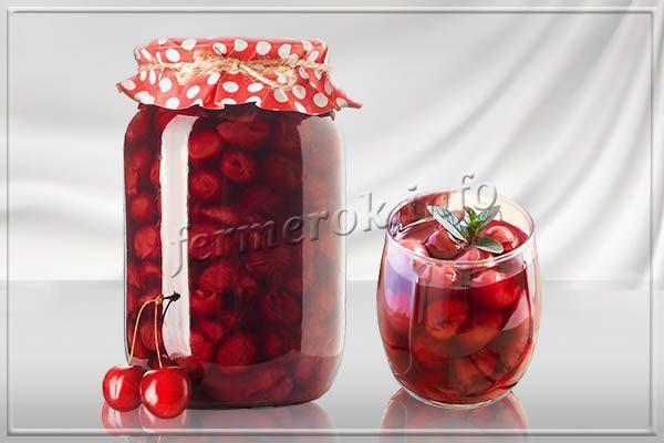 Рецепт концентрированного вишневого компота