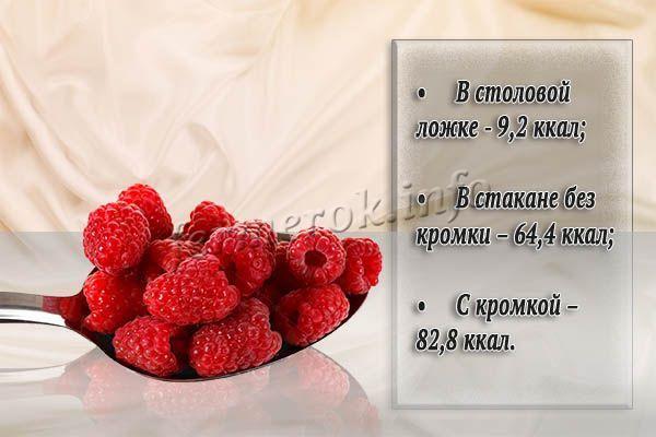 Сколько калорий в свежей малине