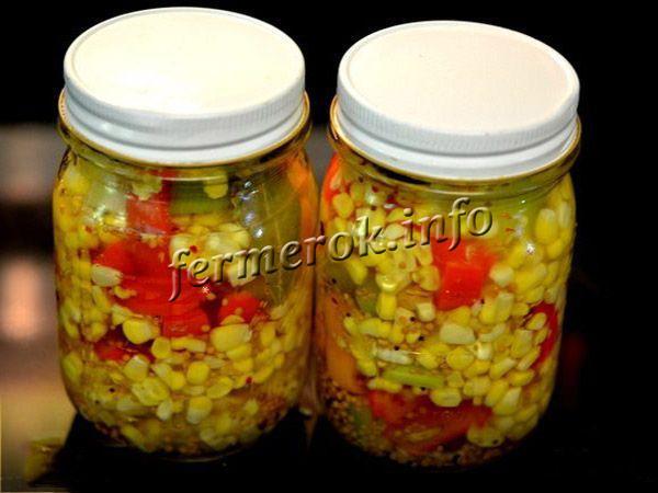 Кукуруза, маринованная со сладким перцем