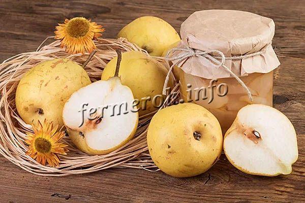 Компот из груш в медовом сиропе