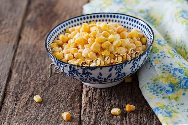 При повторной заморозке кукурузы теряется большая часть питательных веществ