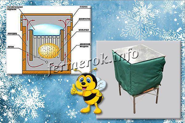 Один из вариантов зимовки пчел – зимовка на воле