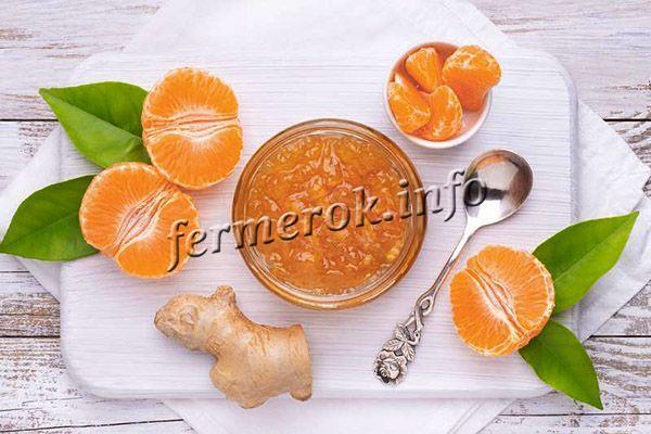 Джем апельсиновый с имбирем