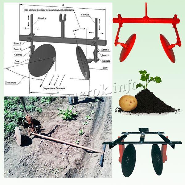 Дисковый окучник – это приспособление, использующееся преимущественно для окучивания картошки